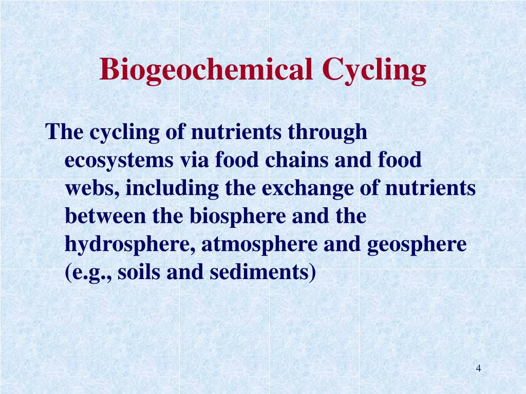 Biogeochemical Cycling