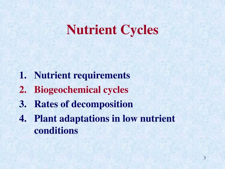 Nutrient cycles3