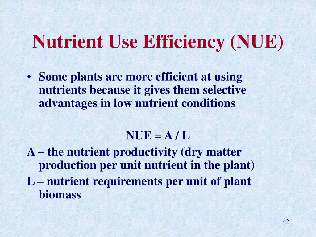 Nutrient Use Efficiency (NUE)