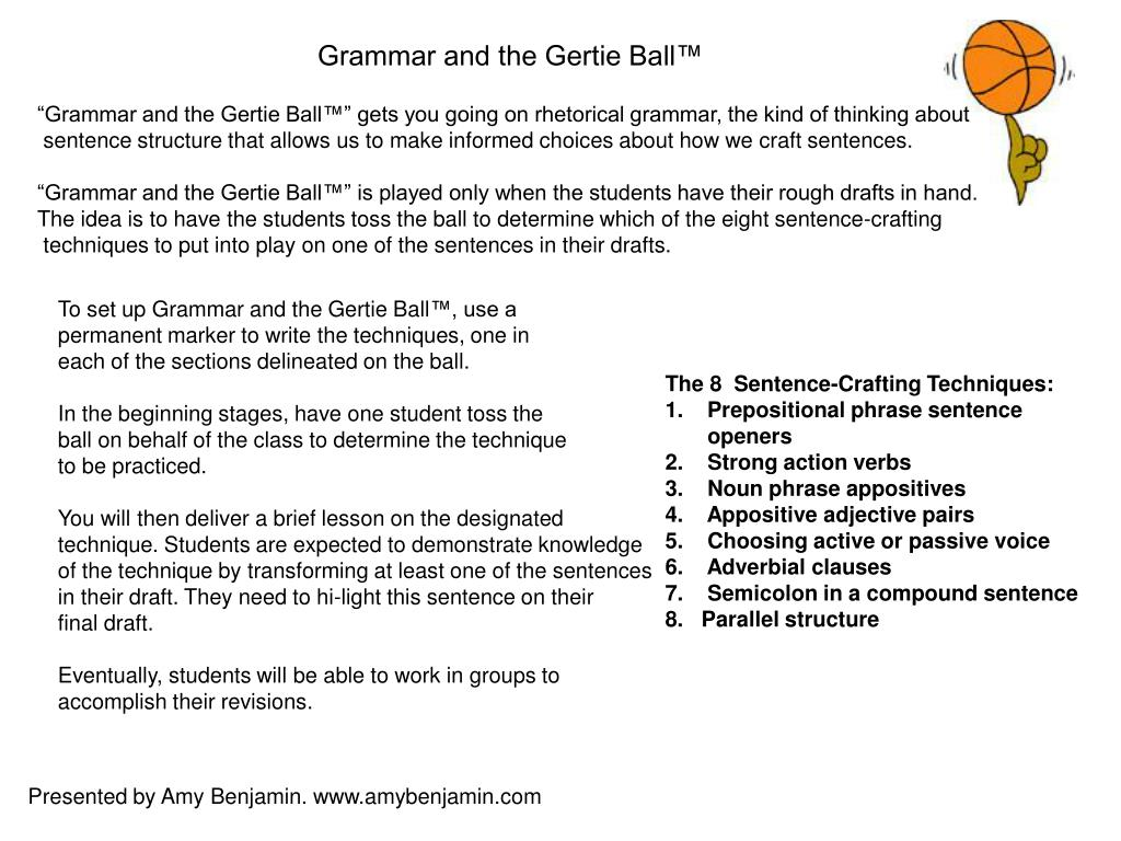 Grammar and the Gertie Ball