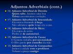 adjuntos adverbiais cont