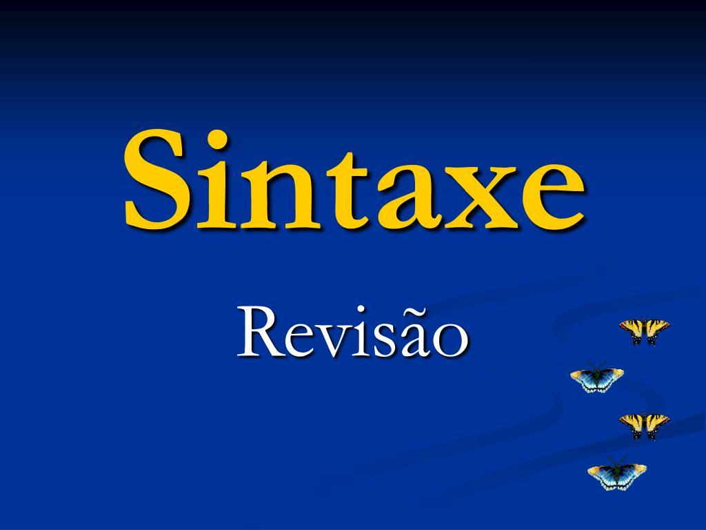 sintaxe l.