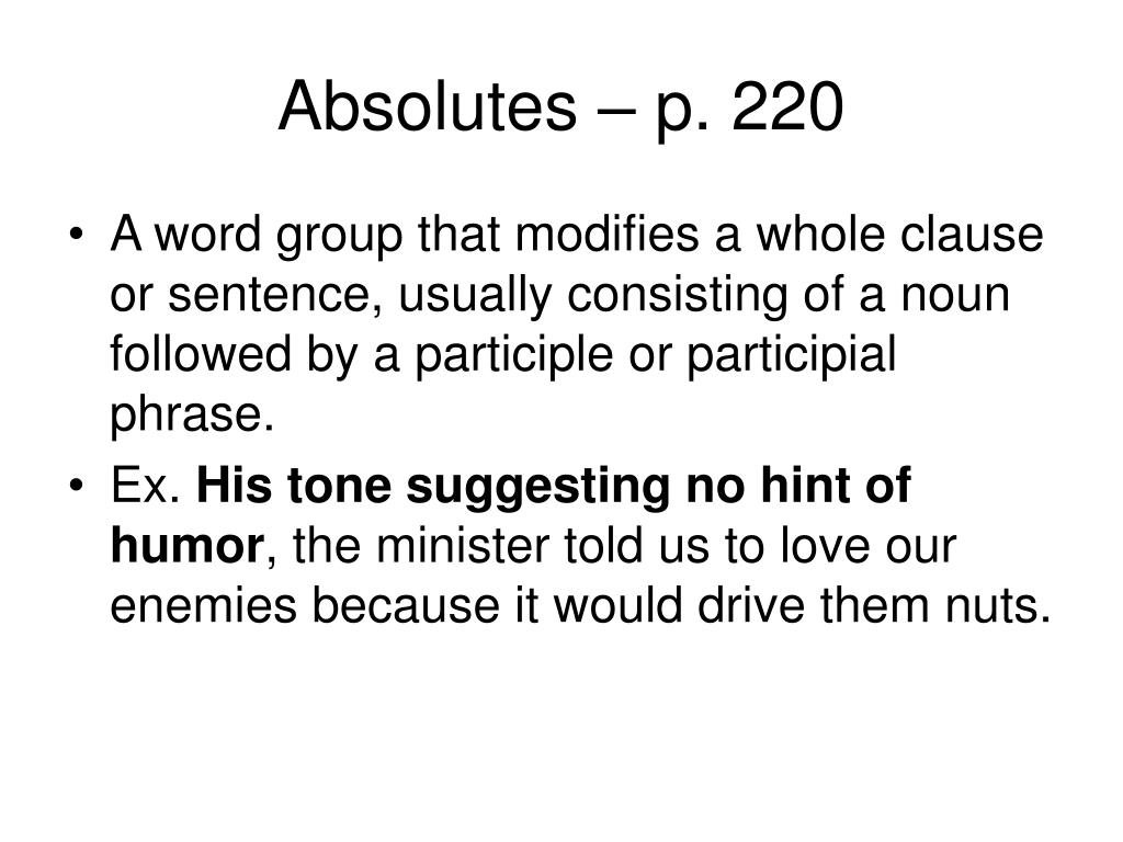 Absolutes – p. 220