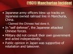 1931 manchurian incident