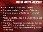 japan s general geography