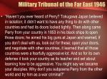 military tribunal of the far east 1946