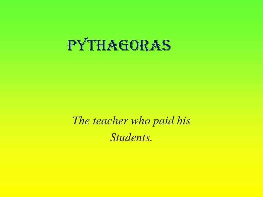 pythagoras l.