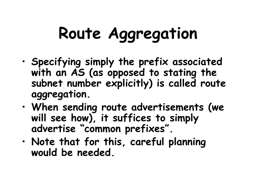Route Aggregation