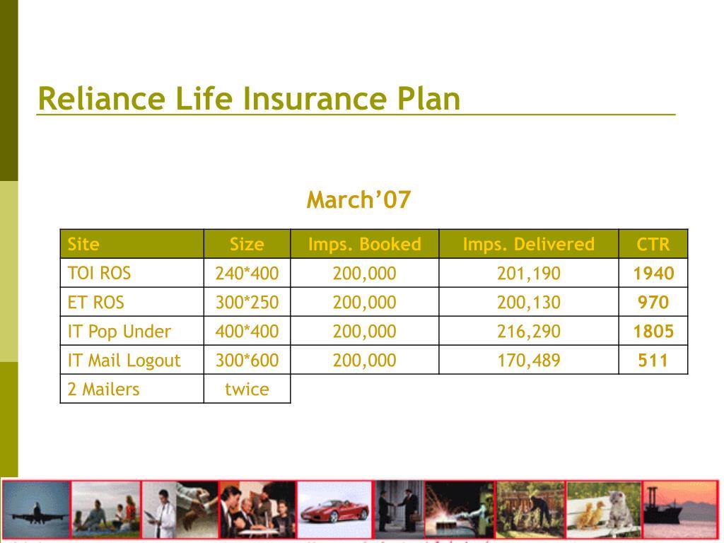 Reliance Life Insurance Plan