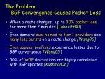 bgp convergence causes packet loss