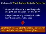 challenge 1 which failover paths to advertise56
