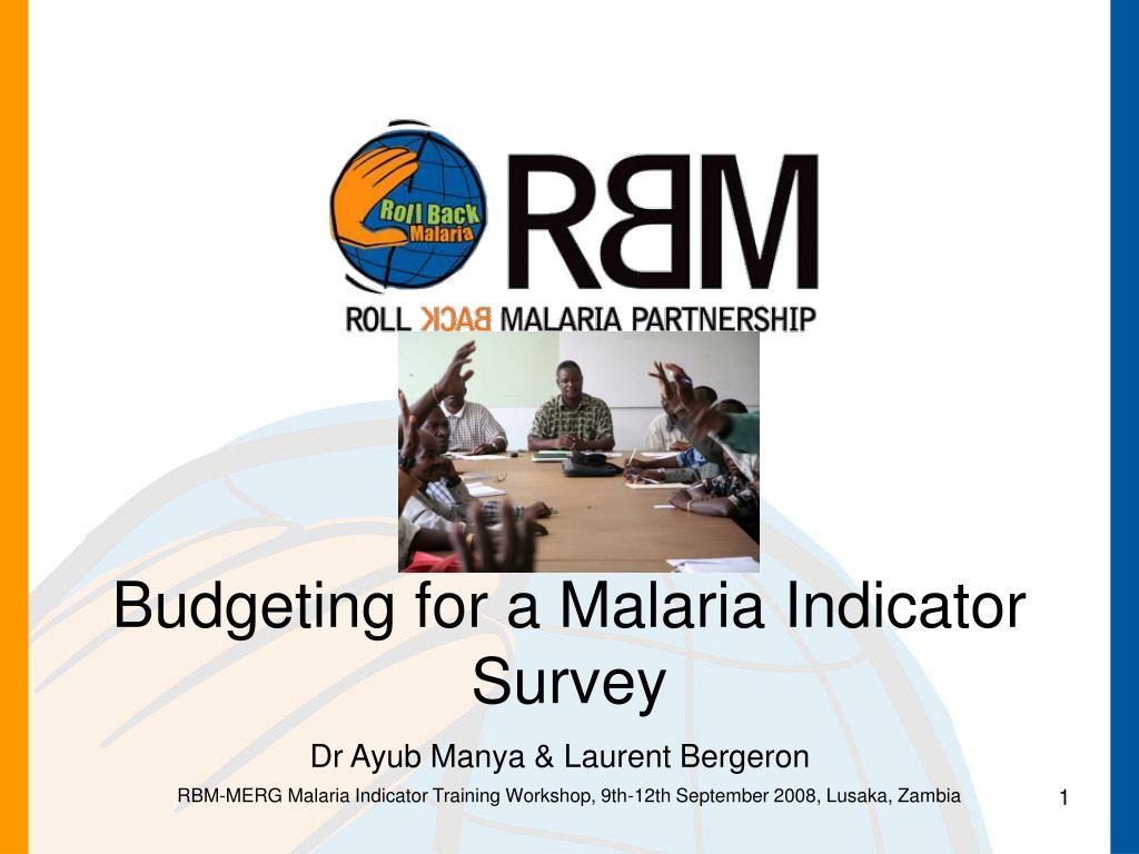 Budgeting for a Malaria Indicator Survey