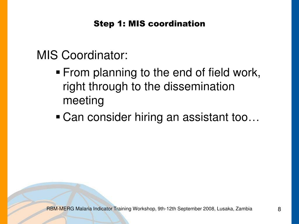 Step 1: MIS coordination