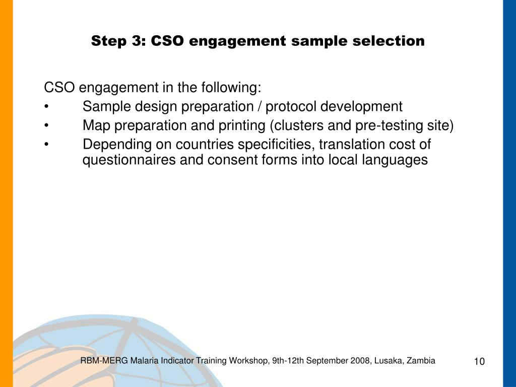 Step 3: CSO engagement sample selection