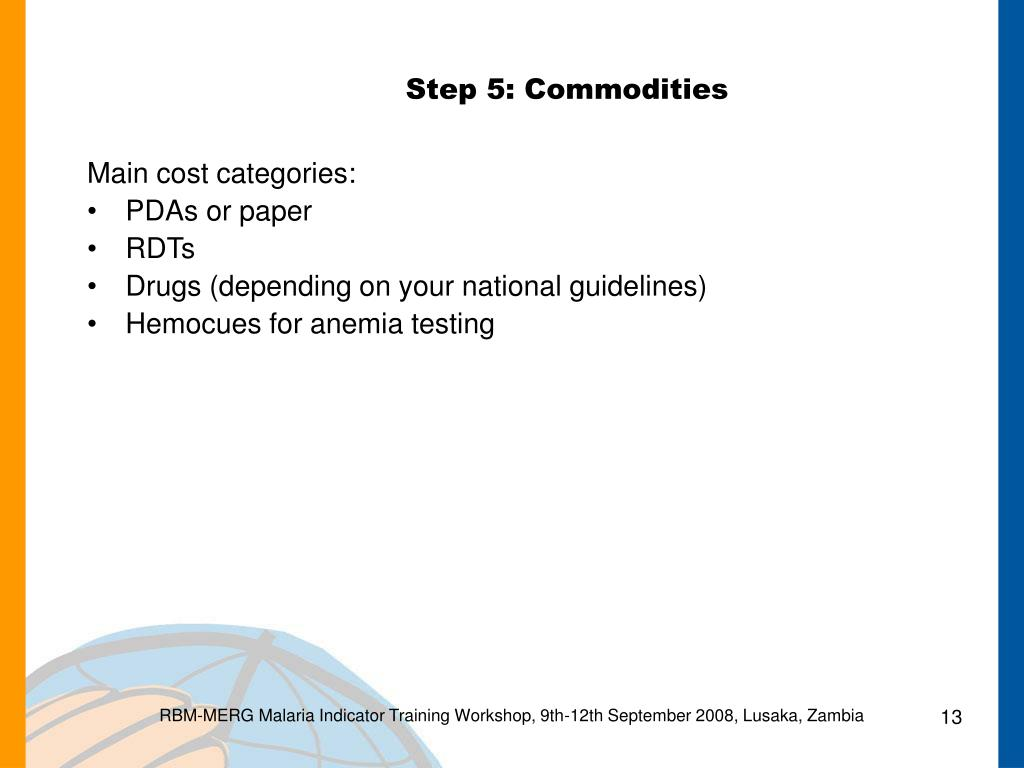 Step 5: Commodities