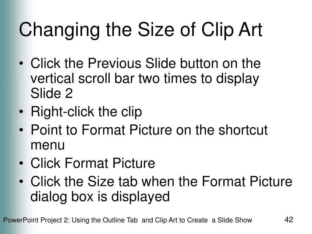 Changing the Size of Clip Art