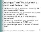 creating a third text slide with a multi level bulleted list20