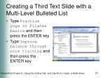creating a third text slide with a multi level bulleted list21