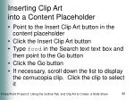 inserting clip art into a content placeholder