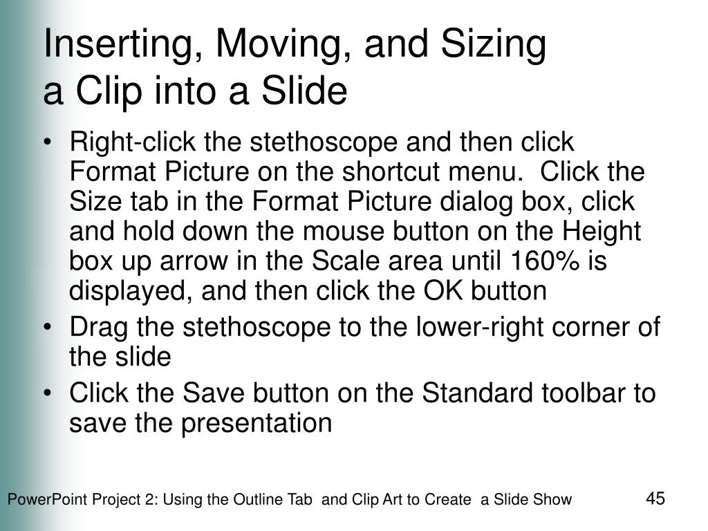 Inserting, Moving, and Sizing
