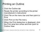 printing an outline