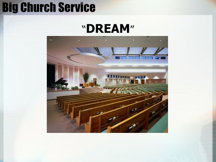 Big church service