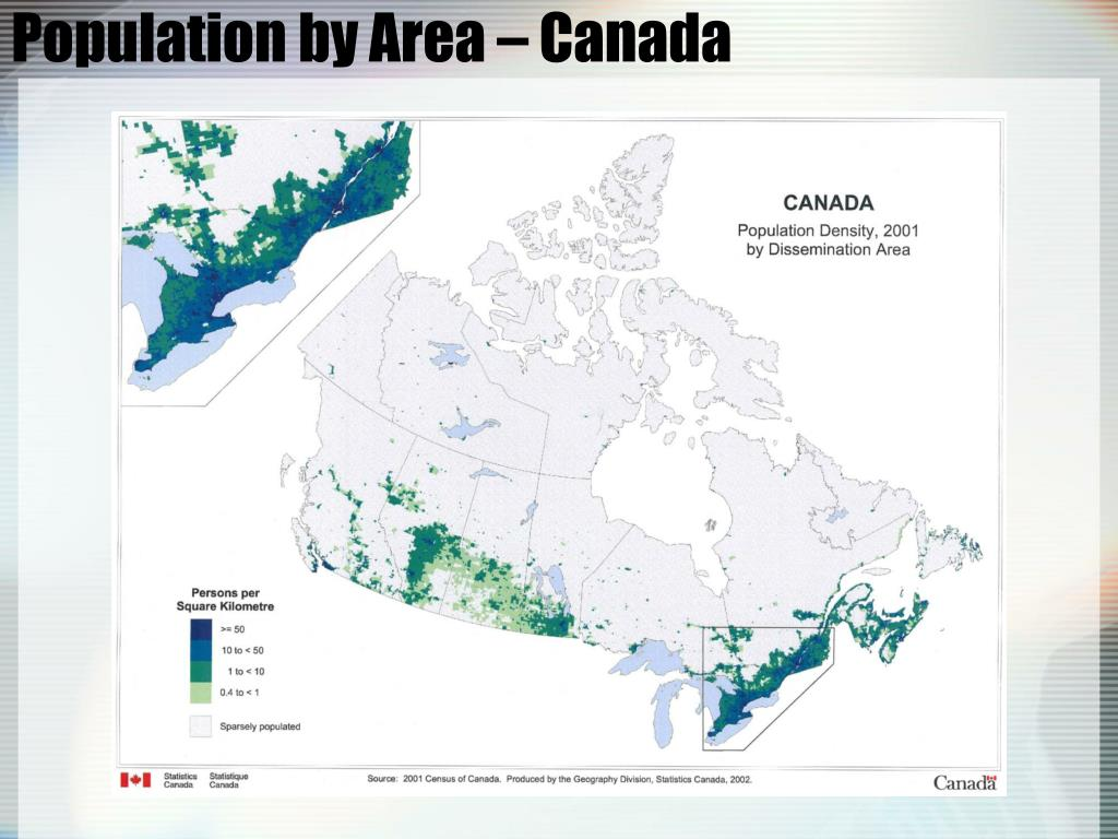 Population by Area – Canada