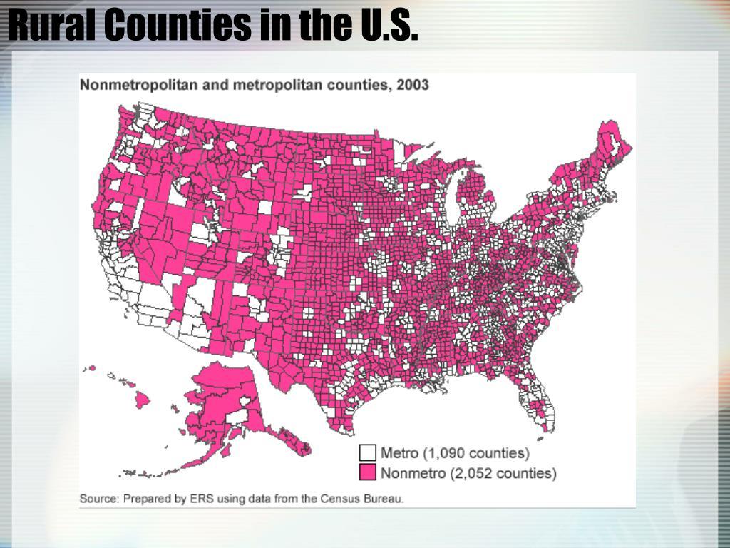 Rural Counties in the U.S.