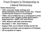 from empire to dictatorship to liberal democracy6