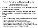 from empire to dictatorship to liberal democracy7