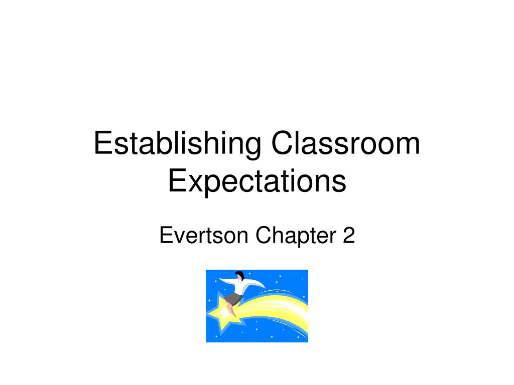 establishing classroom expectations l.