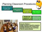 planning classroom procedures