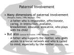 paternal involvement
