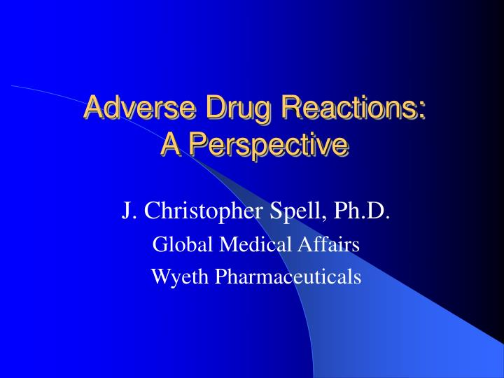 adverse drug reactions a perspective n.