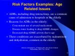 risk factors examples age related issues1