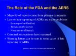 the role of the fda and the aers