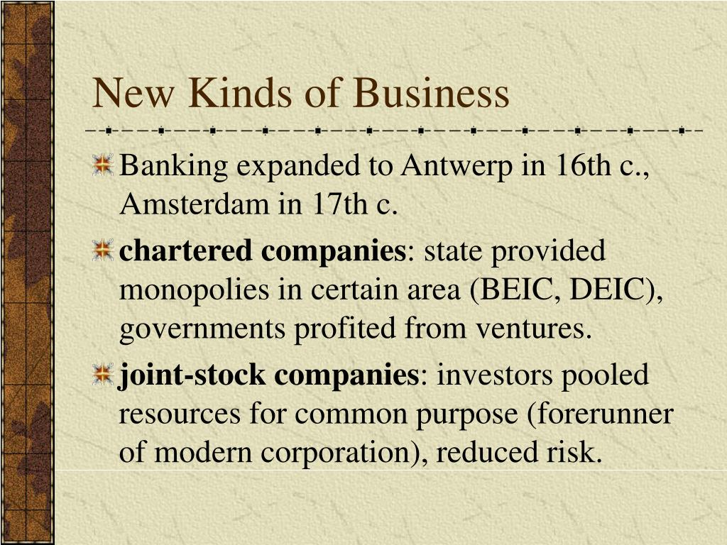 New Kinds of Business