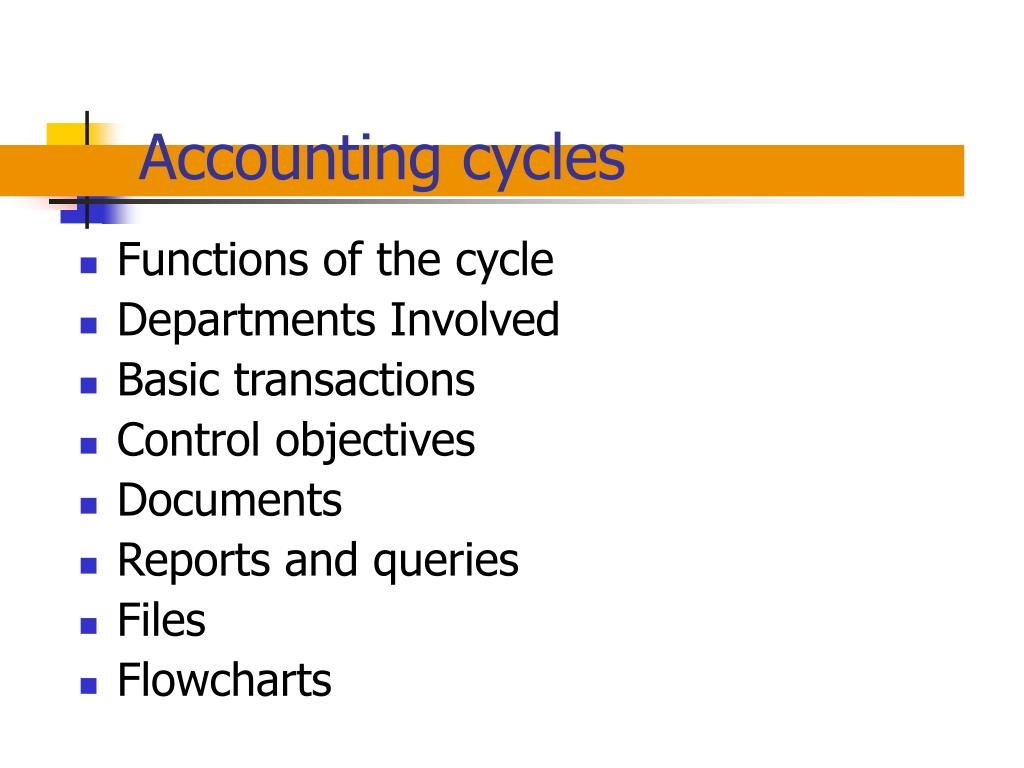 accounting cycles l.