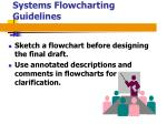 systems flowcharting guidelines13