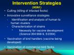 intervention strategies h5n1