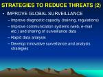 strategies to reduce threats 2