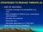 strategies to reduce threats 4