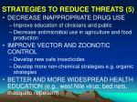 strategies to reduce threats 5
