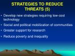 strategies to reduce threats 543