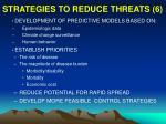 strategies to reduce threats 6