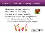 chapter 10 lobster counseling quadrille