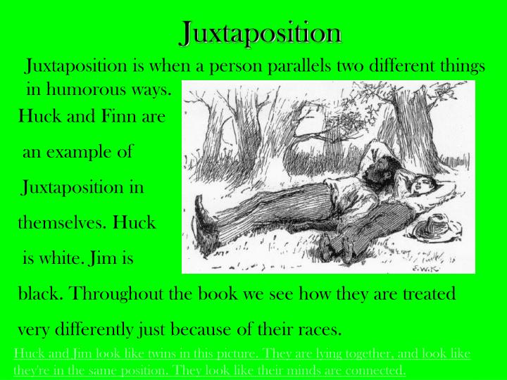 an interpretation of the satire in huck finn The adventures of huckleberry finn most people in huck's place would have loved having a personal servant, but huck is uncomfortable, and refuses to take advantage of the man assigned to him.