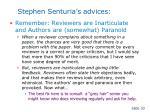 stephen senturia s advices30