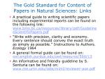 the gold standard for content of papers in natural sciences links