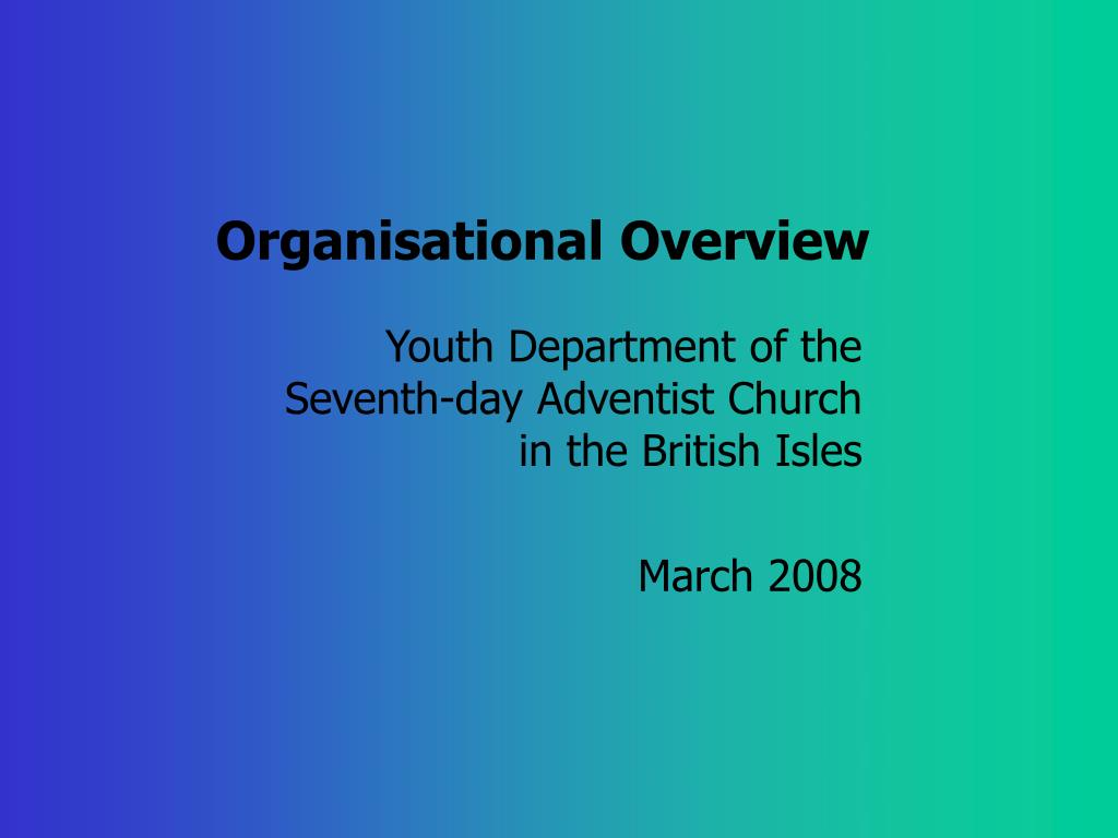 organisational overview l.